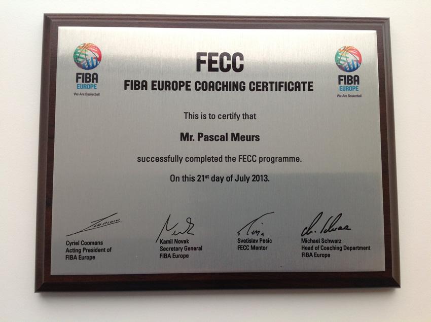 fiba europe coaching certificate 2011-2013