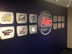 """Richmond Spiders play in the """"Atlantic 10"""" conference, with also the SJU Hawks"""