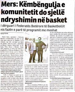 Albanian newspaper