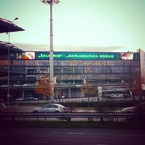 Zalgirio Arena two hours before tip-off: Zalgiris Kaunas vs Darussafaka Istanbul